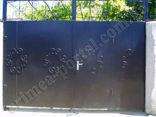Где в омск заказать металические ворота самодельная балка для откатных ворот